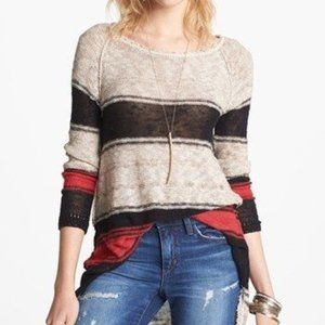 Free People Striped Tunic Sweater